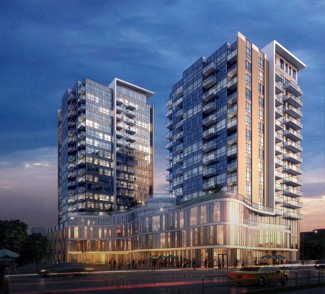 Stunning Streetscape at One Hundred Condominiums in Kitchener